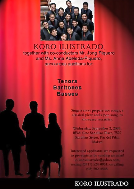 Koro Ilustrado Auditions